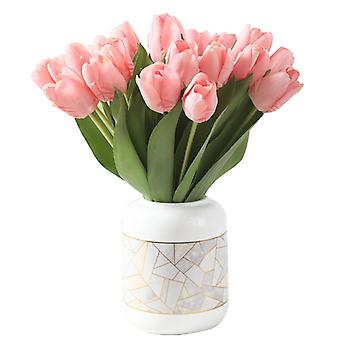 Home Decorations, High-end Simulation Artificial Tulips 6 Packs (pink)