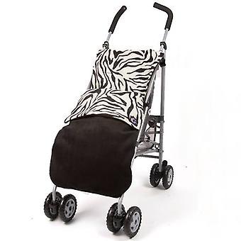 Genesis Universal  Zebra & Black Soft Fleece Footmuff Cosytoes  Buggy Liner
