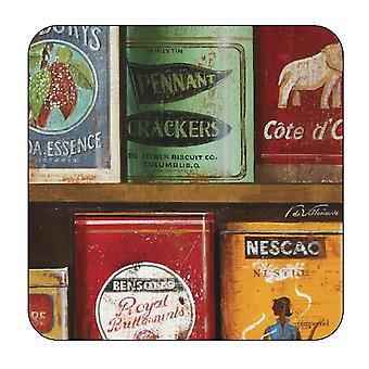 Pimpernel Vintage Tins Coasters Set of 6