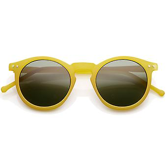 Vintage Inspired Round Horned P-3 Sunglasses with Key Hole Nose