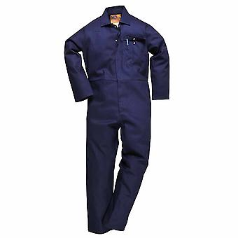 Portwest - CE Safe-Welder Workwear Coverall Boilersuit Navy 4XL