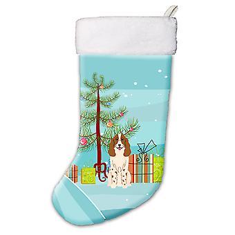Merry Christmas Tree Russian Spaniel Christmas Stocking