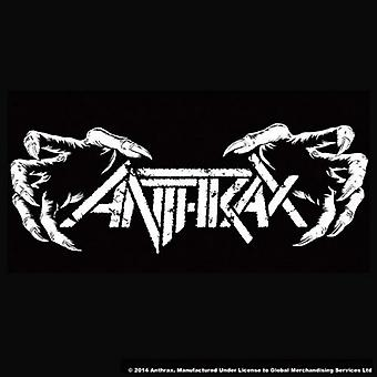 Anthrax Coaster Death Hands new Official 9.5cm x 9.5cm single cork