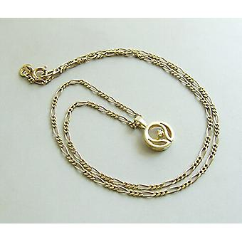 Used car gold necklace and pendant with diamond