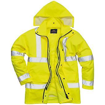 Portwest Mens Hi-Vis 4-in-1 Weatherproof Safety Traffic Jacket