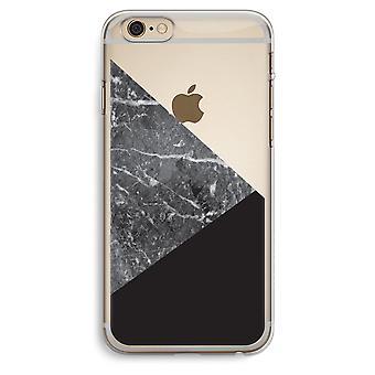 iPhone 6 Plus / 6S Plus transparant Case (Soft) - marmer combinatie