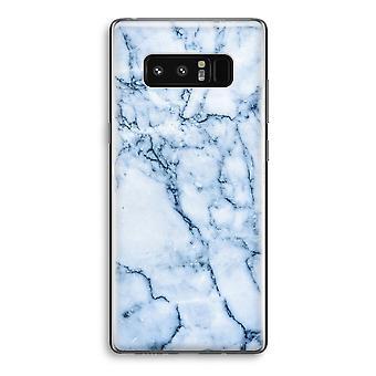 Samsung Galaxy Note 8 gjennomsiktig Case (myk) - blå klinkekule