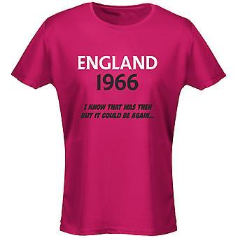 England 1966 fotboll dam T-Shirt 8 färger (8-20) av swagwear