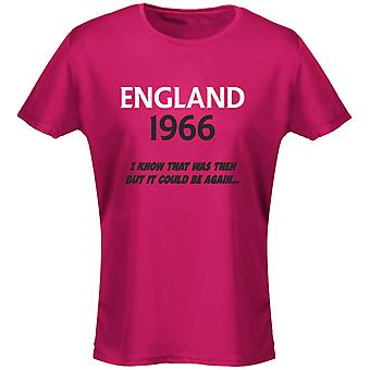 England 1966 Football Womens T-Shirt 8 Colours (8-20) by swagwear
