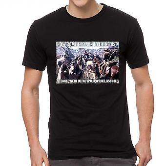 Young Guns Spirit World Men's Black T-shirt