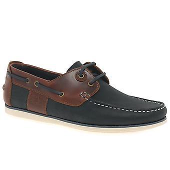 バーバー キャプスタン メンズ カジュアルなボートの靴