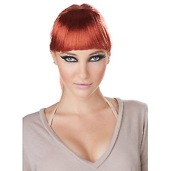 Clip-On Bangs Auburn Vixen Celebrities Super Model Women Costume Wig