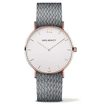 Paul Hewitt Unisex Sailor Grey Fabric Strap PH-SA-R-ST-W-18M Watch
