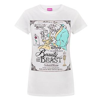 جمال المرأة/السيدات ديزني والقميص ملصق الوحش