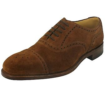 Mens Loake Smart Leather Shoes Tweed 2