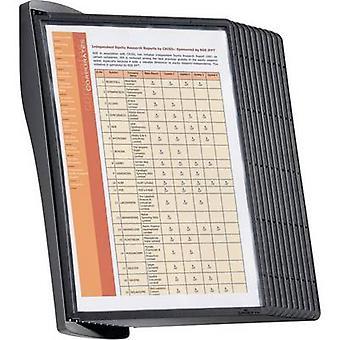 Kestävä näyttö Board seinä teline SHEPA STYLE WALL 10-5854 musta A4 ei. näyttö levyjen määrä 10