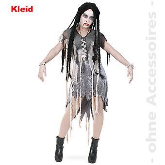 Zombie kvinners kostyme horror Fetzen kjole vandøde Womens Halloween kostyme