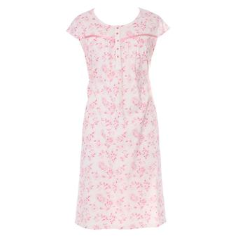 Ladies Walter Grange Classic Floral Print Short Sleeve Nightdress Sleepwear