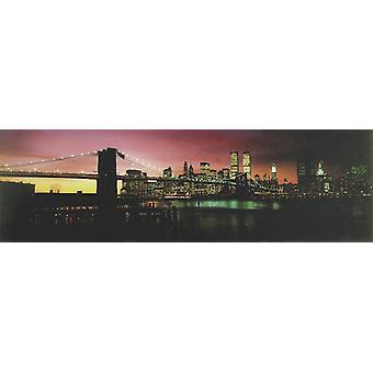 New York poster Brooklyn Bridge fond coucher de soleil T rposter