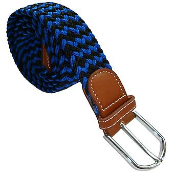 Bassin and Brown Striped Elasticated Woven Belt - Navy/Blue