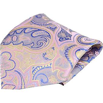 Posh and Dandy Edwardian Paisley Silk Pocket Square - Pastel Pink