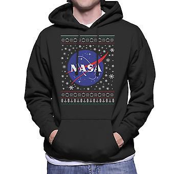 Die NASA klassischen Insignien Weihnachten Stricken Muster Herren Sweatshirt mit Kapuze