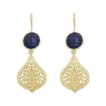Gemshine naisten korva korut mandalat sininen safiireja hopea, kulta kullattu tai ruusu