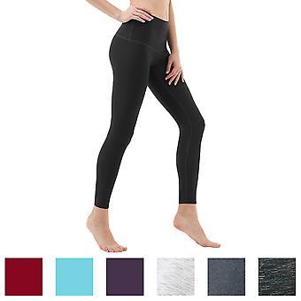 TSLA Tesla FYP52 Women's High-Waisted Ultra-Stretch Tummy Control Yoga Pants