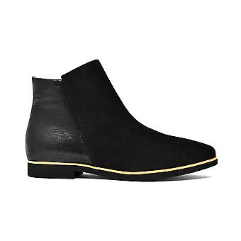Liberitae booties booty thin suede black 21803337-03