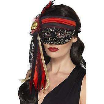 Maskerade piraat Eyemask, zwart