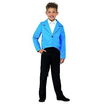 Sininen frakki, tanssi, sirkustirehtööri, esiintyjä, naamiaispuku, keskipitkällä ikä 7-9