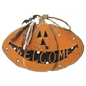 Heaven Sends Halloween Pumpkin Welcome Sign