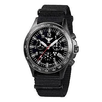 KHS orologi mens watch plotone nero titanio cronografo KHS. BPTC.NB