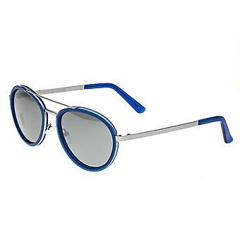 Breed Gemini Titanium Polarized Sunglasses - Silver-Blue/Silver