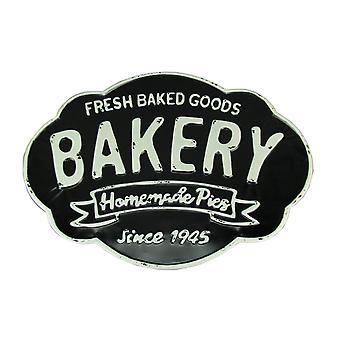 Svart och vit metall Vintage bageri vägg Decor tecken