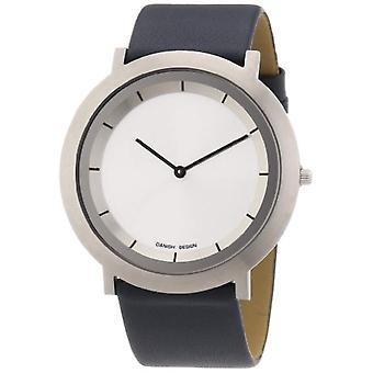 Dansk Design 3324486-armbåndsur, læder, farve: sort