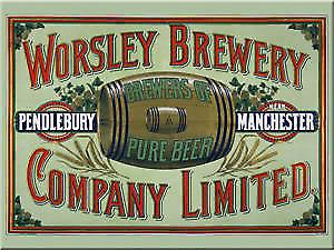 Signs Unique Worsley Brewery Manchester steel fridge magnet (na ls)