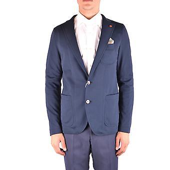 Manuel Ritz Ezbc128033 Men's Blue Cotton Blazer