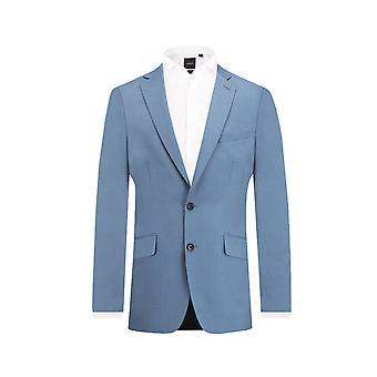 Dobell Mens Light Blue Suit Jacket Slim Fit