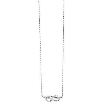 Beginnings Infinity Cubic Zirconia Necklace - Silver