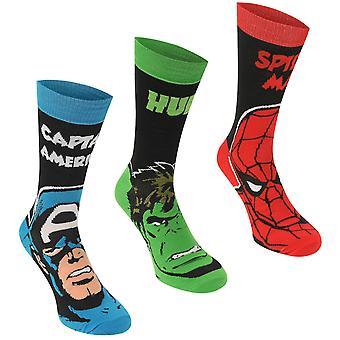 Heren 3 Pack Crew sokken