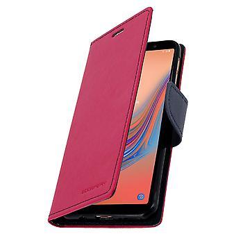 Galaxy A7 2018 -foliokotelokorttien tukitoiminnon kotelo - vaaleanpunainen