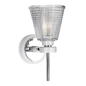 Elstead-1 Lichtwand lamp-Wit gepolijst chroom-Bad/GUNNIS1 WPC