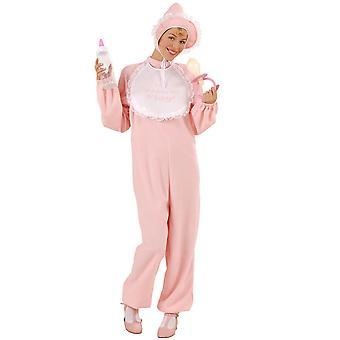 Baby Girl Costume Flannel (Jumpsuit Bonnet Bib)