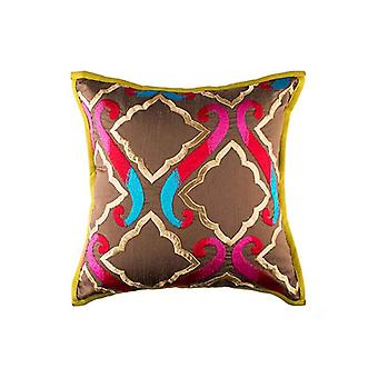 Ethnic Multicolor The Royal Durbar Throw Pillow Cover