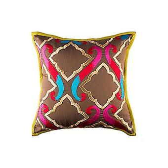 Ethnic Multicolor The Royal Durbar Throw Pillow Cover