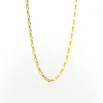 Eternity 9ct Gold 20'' Oval Belcher Chain
