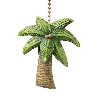 Coastal Island Palm Tree Ceiling Fan Pull Decorative Light Chain