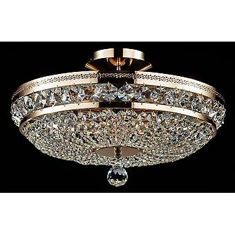 Maytoni Lighting Ottilia Diamant Crystal Ceiling Lamp, Gold