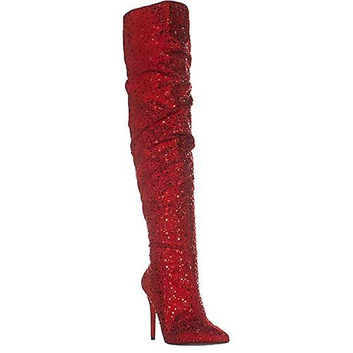 Jessica Simpson Womens Luxella Fabric Pointed Toe Over Knee Fashion Boots gKsKx
